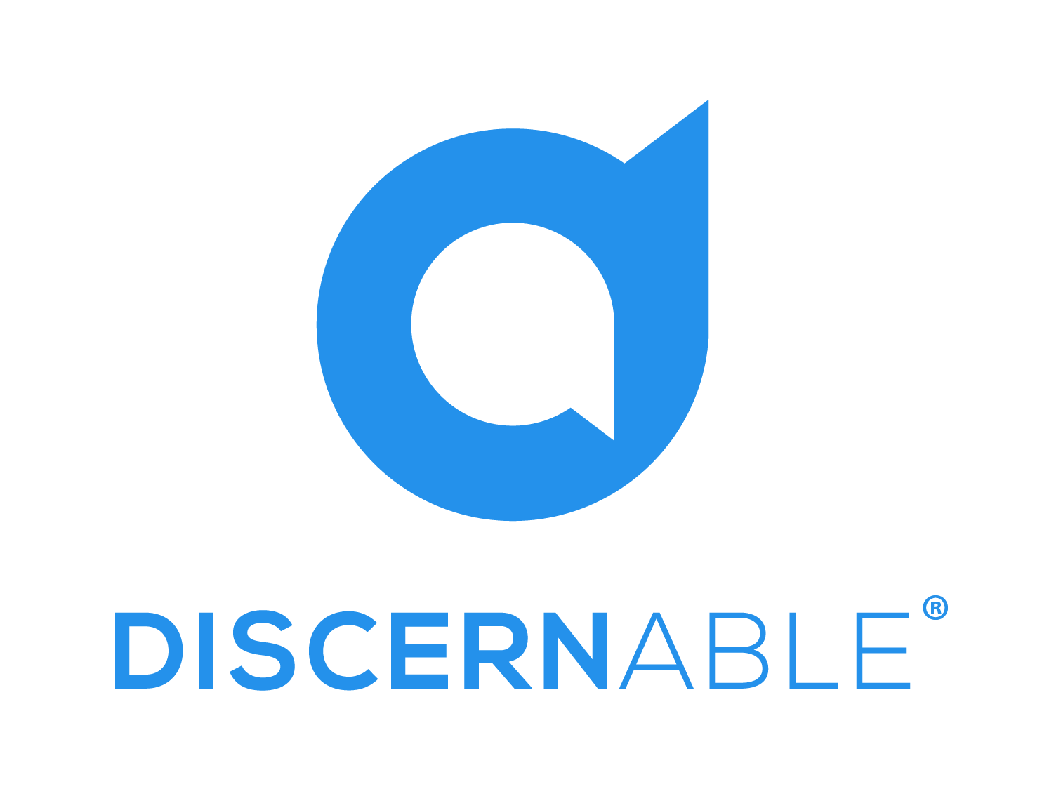 Discernable on Locals logo